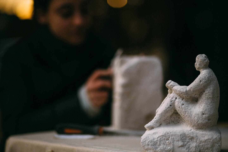 scultori di strada a Milano